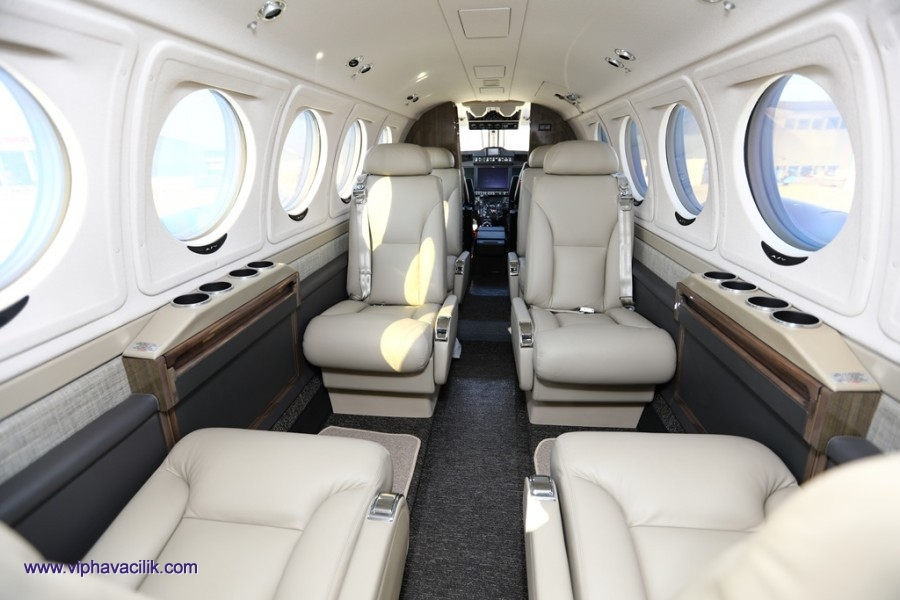 PRIVATE TURBOPROP BUSINESS AIRCRAFT CHARTER TURKEY >> KING AIR B250 GT
